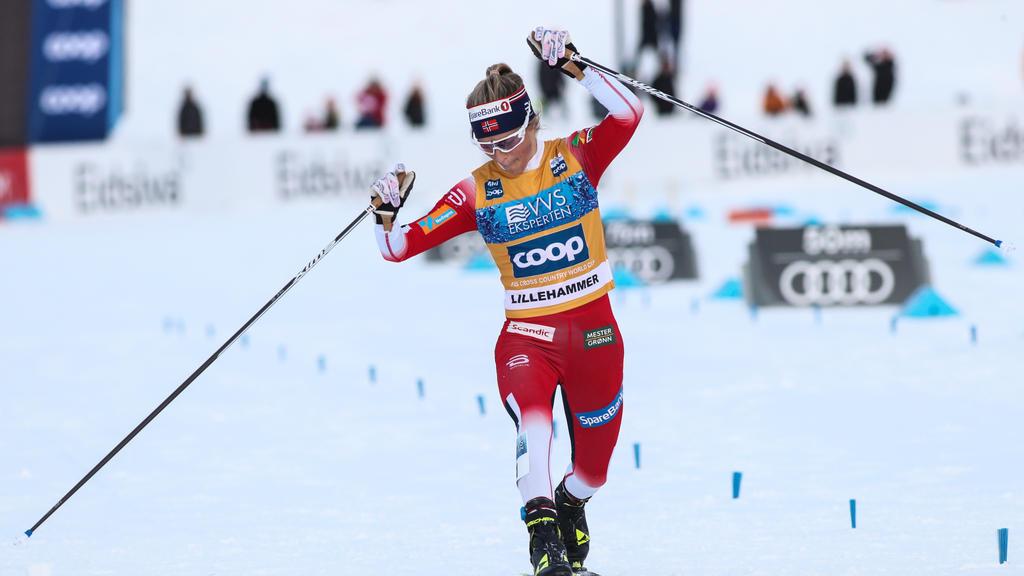 Therese Johaugführt Norwegen souverän zum Sieg
