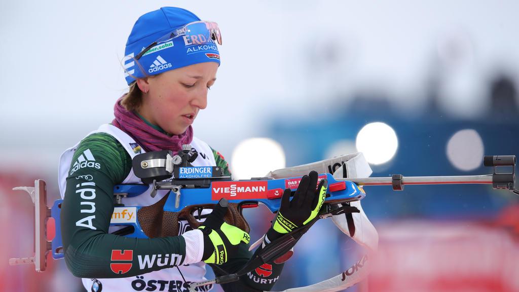 Franziska Preuß war die beste Deutsche im Einzel der Biathletinnen