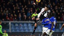 Cristiano Ronaldo traf gegen Sampdoria spektakulär