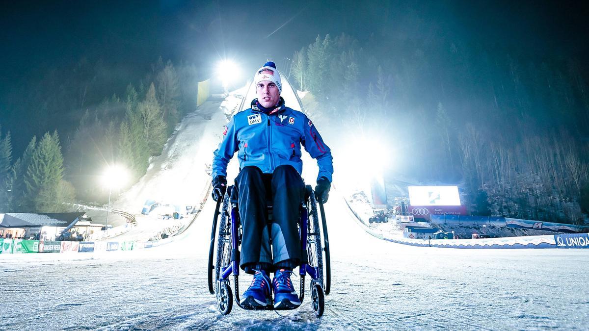 Skispringer Lukas Müller ist seit seinem Sturz im Jahr 2016 querschnittsgelähmt