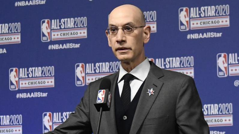 In der NBA wird über Gehaltskürzungen bei den Profis verhandelt: Adam Silver, Commissioner der NBA