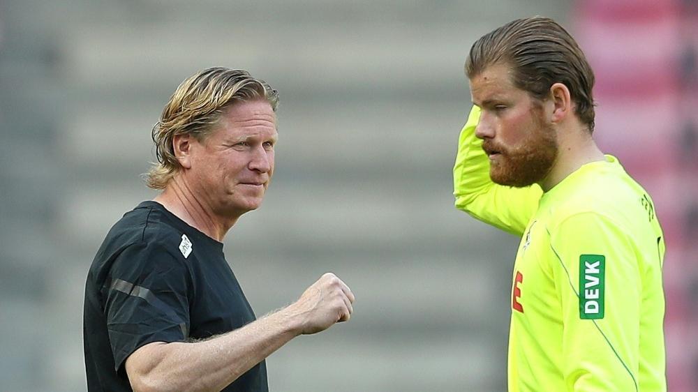Trainer Markus Gisdol (l.) setzt weiter auf Timo Horn