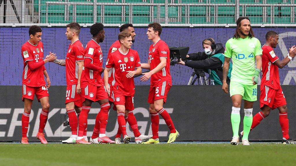Der FC Bayern setzte sich knapp gegen den VfL Wolfsburg durch