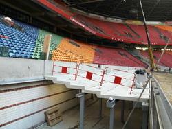 De capaciteit van de Amsterdam ArenA wordt in 2015 vergroot en daarom wordt er tijdens de winterstop gewerkt in het stadion van Ajax. (06-01-2015)