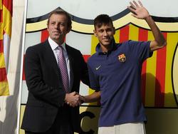 Neymar el día de su presentación con el FC Barcelona. (Foto: Getty)