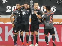 Der FC Bayern siegte mühelos in Augsburg