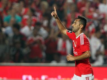 jonas celebra un gol con la camiseta del Benfica (Foto: Getty)