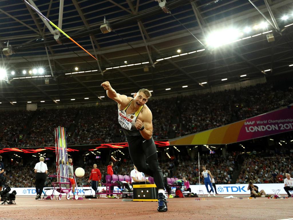 Johannes Vetter stellte 2017 einen neuen deutschen Rekord auf