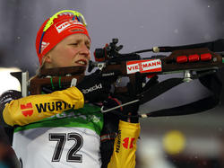Franziska Hildebrand beim Sprint in Östersund