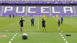 Entrenamiento del Real Valladolid en Pucela.