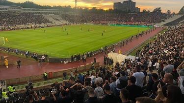 Imagen del estadio durante el encuentro.