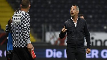 Steckt mit Eintracht Frankfurt im Abstiegskampf: Adi Hütter