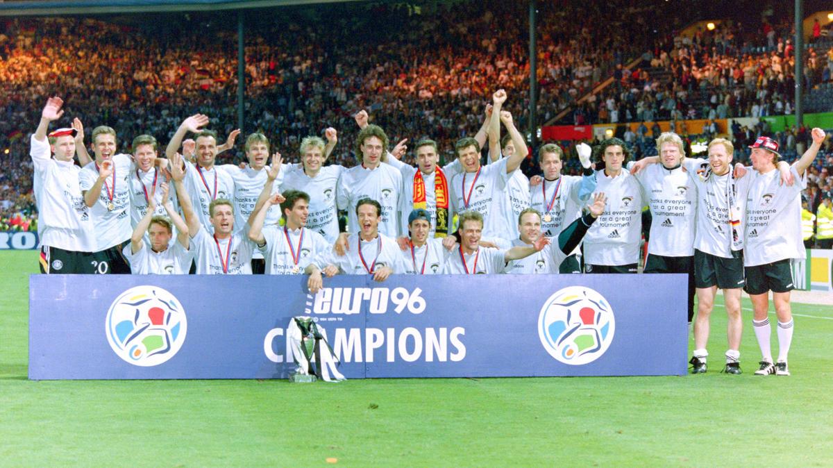 Die deutsche Nationalmannschaft gewann 1996 die EM in England