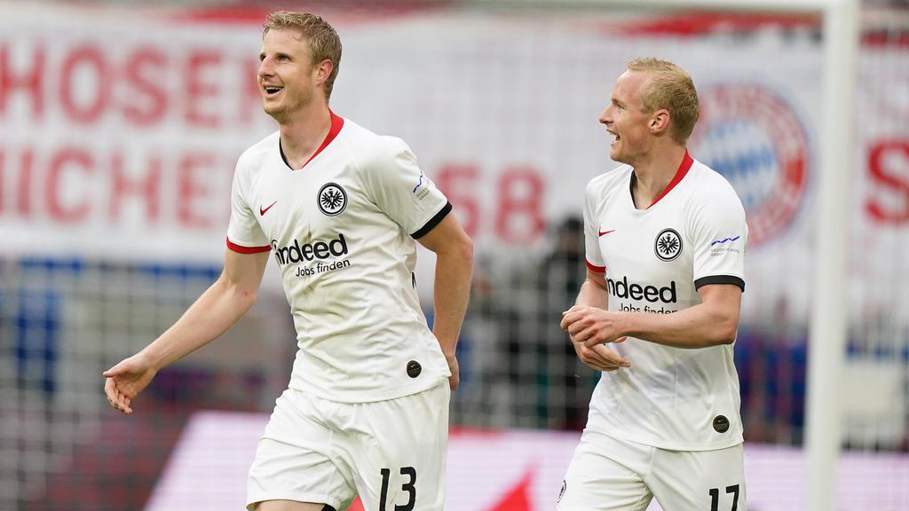 Martin Hinteregger (l.) und Sebastian Rode (r.) sollen Eintracht Frankfurt künftig führen