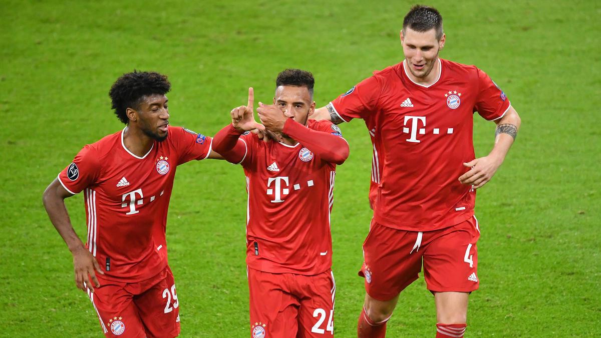 Coman (l.) fordert offenbar ein höheres Gehalt vom FC Bayern, Niklas Süle (r.) könnte den Klub im Sommer verlassen