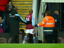 Fabian Delph in het shirt van Aston Villa.