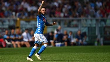 Lorenzo Insigne erzielte zwei Treffer für den SSC Neapel