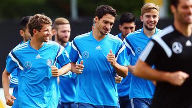 Einst gemeinsam im DFB-Team: Thomas Müller, Mats Hummels, Christoph Kramer