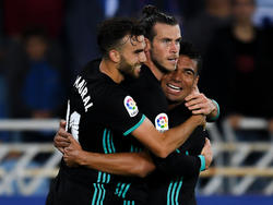 Mayoral y Bale anotaron dos de los tres goles del Madrid. (Foto: Getty)