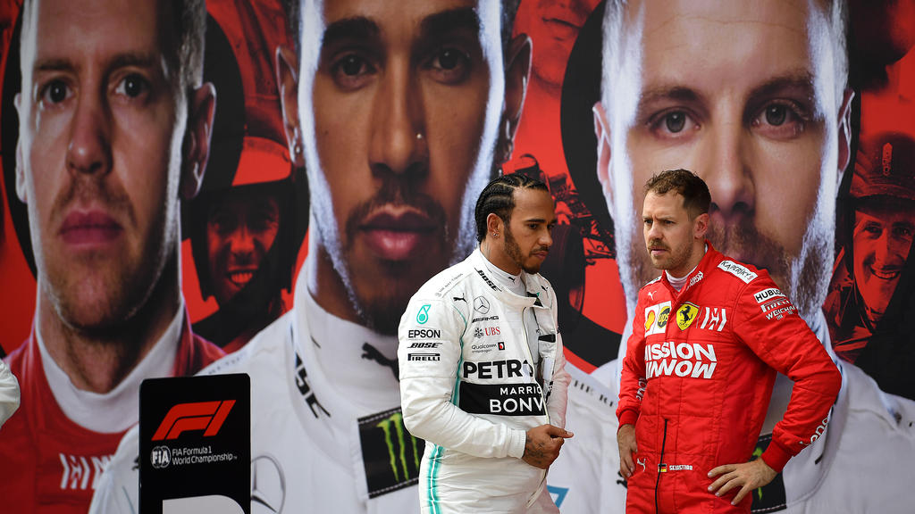 Welche Schulnoten haben Lewis Hamilton (l.) und Sebastian Vettel verdient?