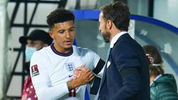 Jadon Sancho (l.) zeigte für England eine ordentliche Leistung