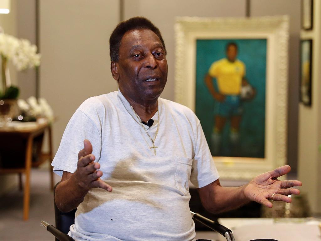 Pelé bei seinem 80er letztes Jahr (Archivbild)