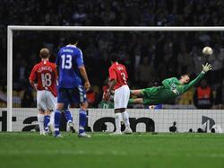 Van der Sar en la final de la Champions de 2008. (Foto: Getty)
