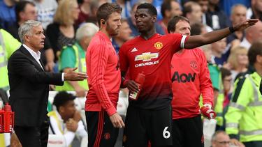 Das Tischtuch zwischen José Mourinho (l.) und Paul Pogba (r.) scheint zerschnitten