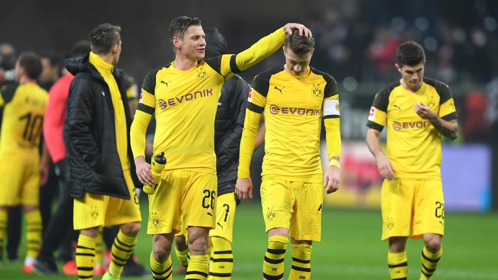BVB-Profi Marco Reus (re.) wusste nicht, ob er sich freuen sollte