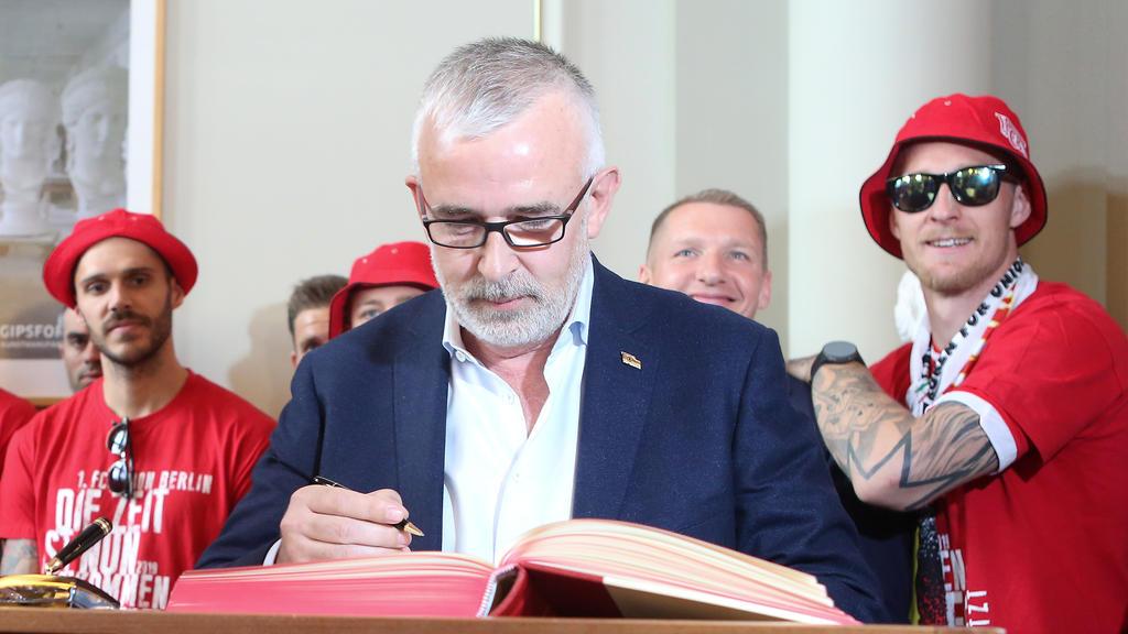 Dirk Zingler ist der Präsident des 1. FC Union Berlin. Foto: Jörg Carstensen