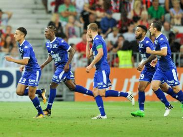 Saîf-Eddine Khaoui  celebra uno de los goles visitantes. (Foto: Imago)