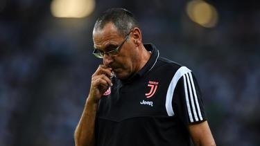 Maurizio Sarri musste mit Juventus Turin einen Rückschlag hinnehmen