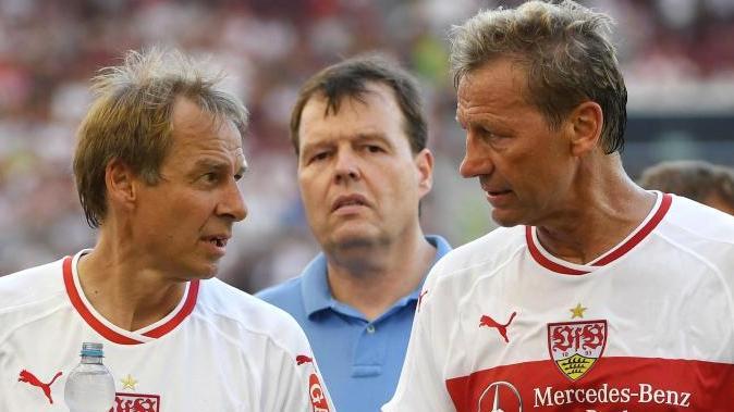 Alte Weggefährten beim VfB Stuttgart: Jürgen Klinsmann (l.) und Guido Buchwald