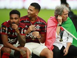 Jorge Jesús vivió una gran alegría con sus jugadores.
