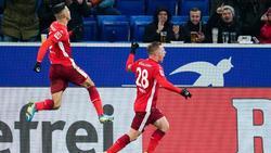 Traf für die Fortuna auch gegen Hoffenheim: RouwenHennings (r.)