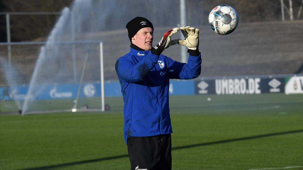 Schalkes Torwart Alexander Nübel ist für das Spiel beim FC Bayern gesperrt