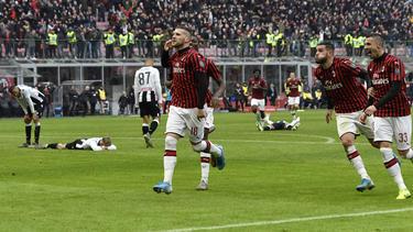 Ante Rebic hizo esta vez doblete con el Milan.