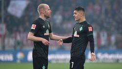 Davy Klaassen (l.) und Milot Rashica werden Werder Bremen wohl bei einem Abstieg verlassen