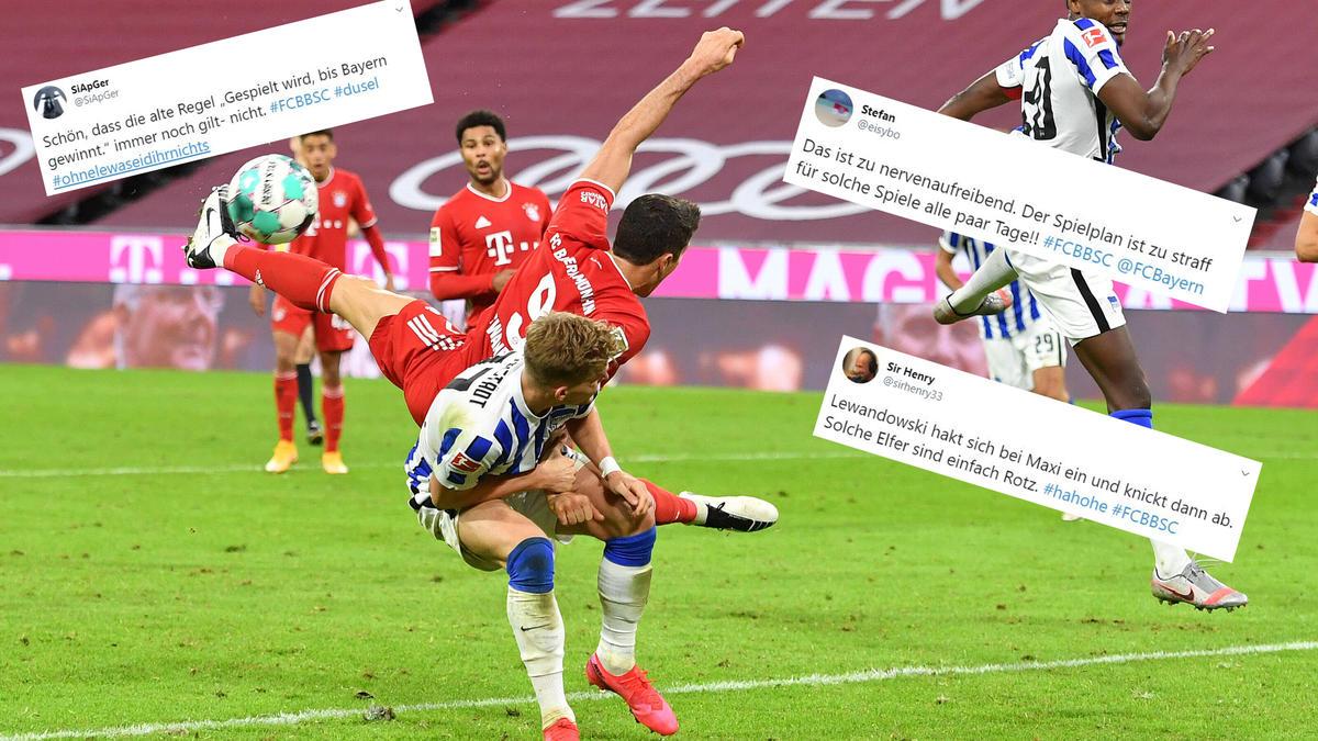 Fc Bayern Gewinnt Drama Gegen Hertha Bsc Die Besten Netzreaktionen