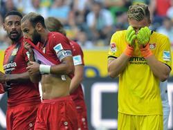 Leno (drch.) en el partido de ayer del Bayern Leverkusen. (Foto: Imago)
