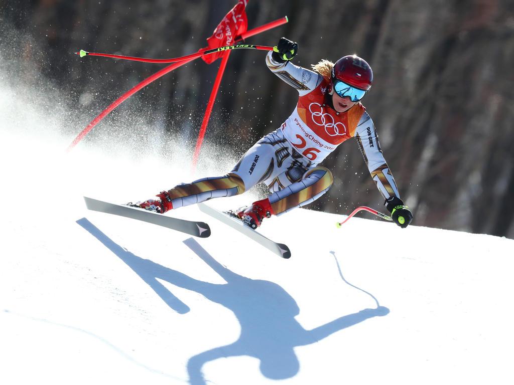Ester Ledecká hat den olympischen Super-G gewonnen