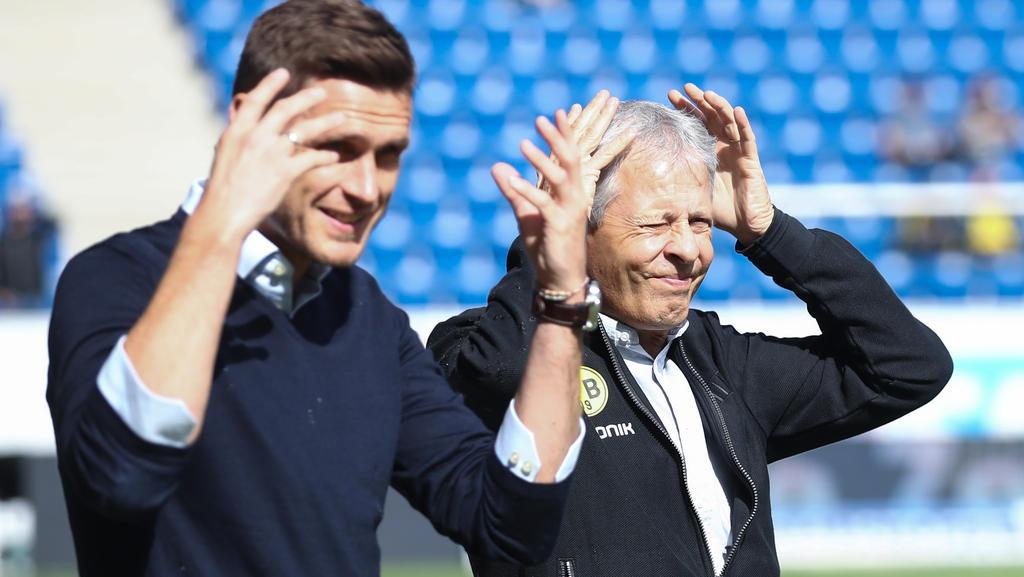 Sebastian Kehl (l.) an der Seite von BV-Coach Lucien Favre