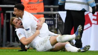 Ganz England feiert Matchwinner Harry Kane