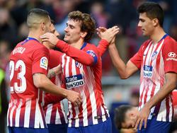 El Atlético no tuvo rival en el Wanda Metropolitano. (Foto: Getty)