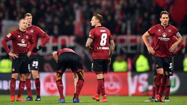 Die Club-Spieler sind nach der Niederlage gegen Wolfsburg deprimiert