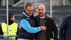 Maurizio Sarri & Pep Guardiola