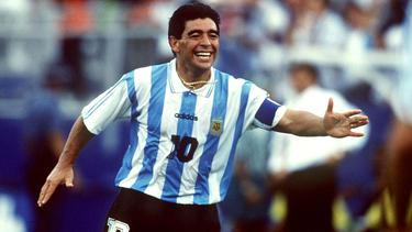 Maradona wurde 1994 wegen Dopings gesperrt