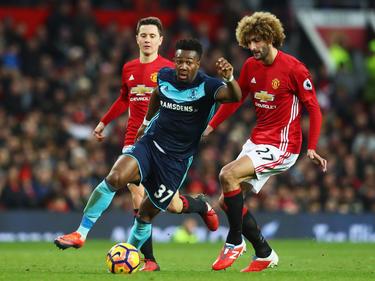 Adama Traoré durante la temporada pasada contra el United. (Foto: Getty)