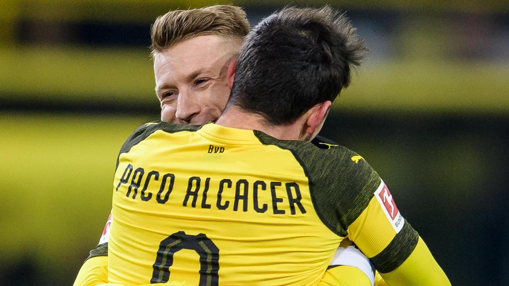 Paco Alcácer und Marco Reus überragen beim BVB
