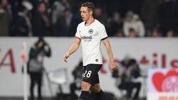 Dominik Kohr von Eintracht Frankfurt wurde im Spiel gegen Mainz 05 frühzeitig zum Duschen geschickt